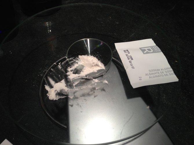 Sodium Alginate on the scale