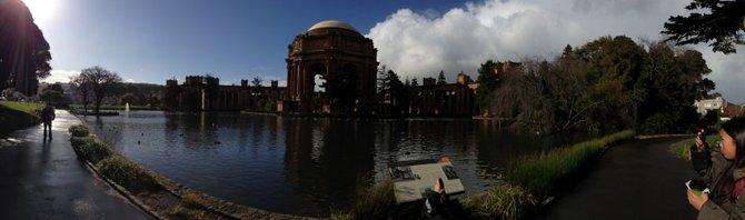 Exterior view of the Exploratorium in San Francisco, CA.  Taken on 12/26/12.