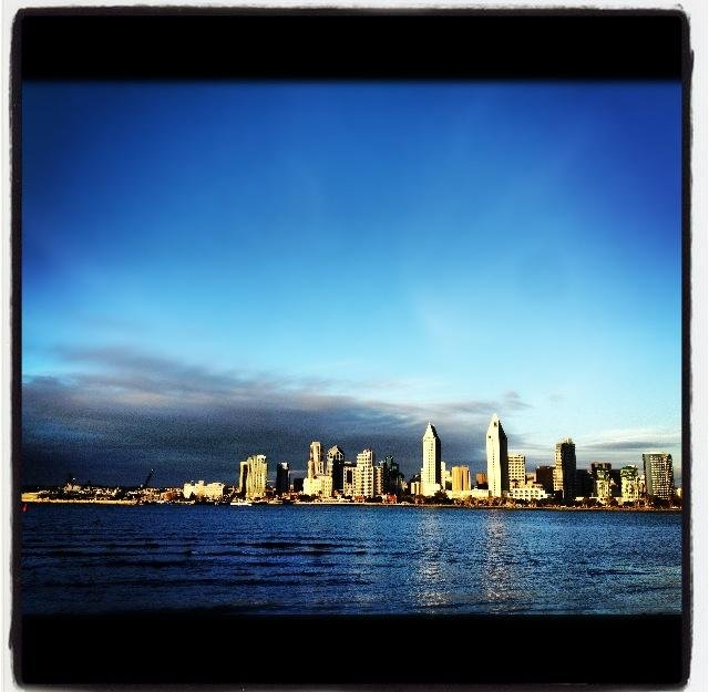 View of the San Diego Skyline from Coronado Island