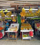 Fruit stand in Singapore.