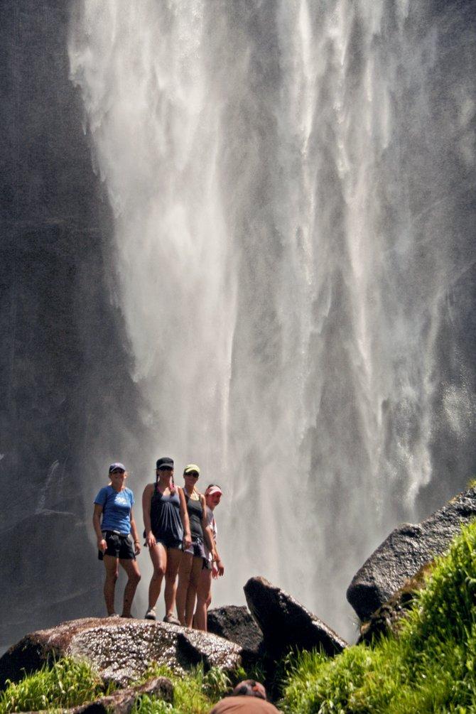 Vernal Falls in Yosemite.