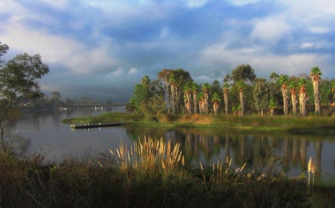 Lake Miramar in the morning.