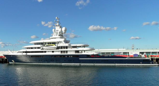 Roman Abramovich Yacht On San Diego S Embarcadero San
