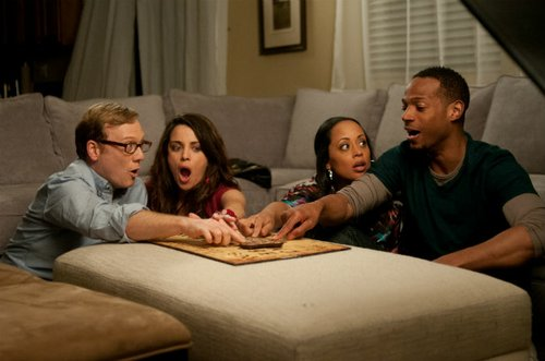 Andrew Daly, Alanna Ubach, Essence Atkins, and Marlon Wayans.
