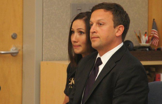 Border Patrol agent Kallie Lamb Helwig, w attorney.  Photo Weatherston.