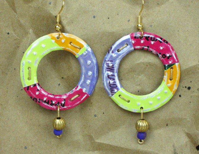 Soda Pop Art Earrings