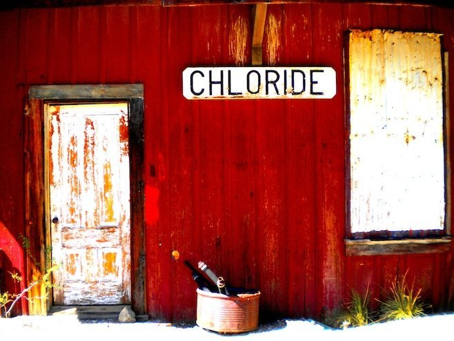The old Chloride train station. Somewhere north of 250 residents still inhabit this silver mining holdover.