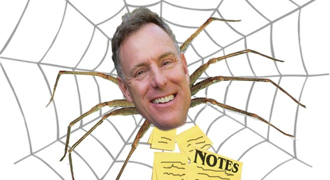 Congressman Scott Peters is entangled in a sticky campaign finance web of his own spinning.