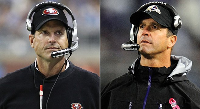 Jim and John Harbaugh could possibly face each other on the biggest entertainment stage in the galaxy.