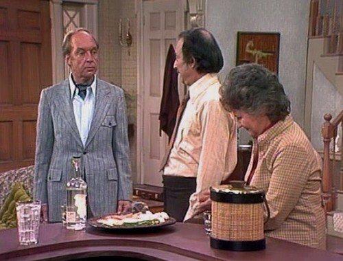 "Conrad Bain, Bill Macy, and Bea Arthur in ""Maude."""