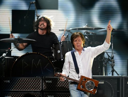 Dave Grohl and Paul McCartney.