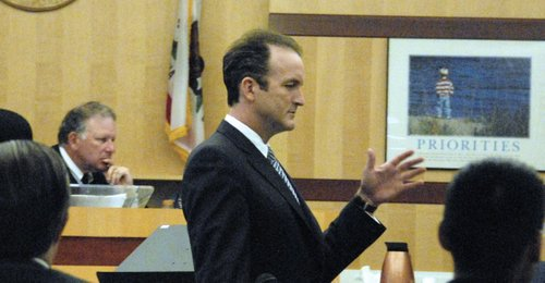 Public defender Matthew Roberts is hoping for a plea deal.  Photo Weatherston.