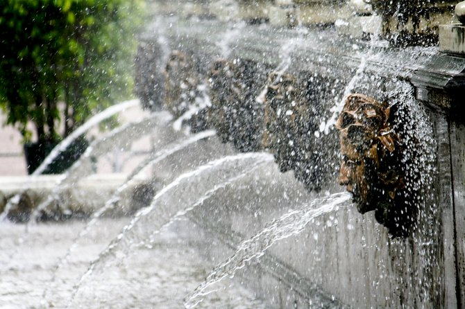 Fountains at Peterhof Palace in St. Petersburg.