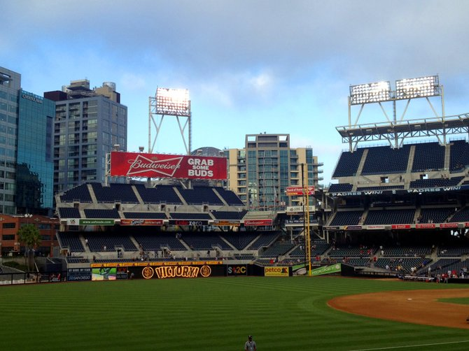 Petco Park, this was after the Padres won against the Cardinals.