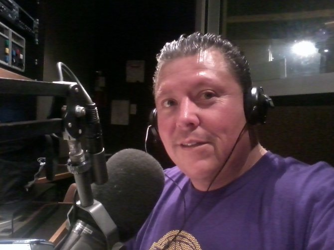 Chris Springer delivering the Salsa from the Jazz 88.3 studios
