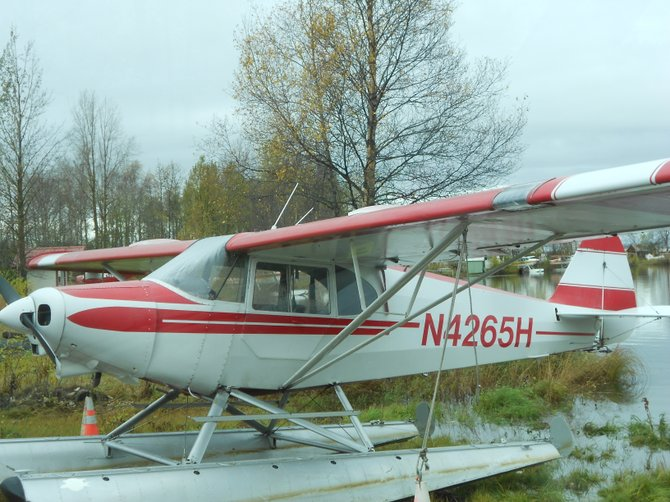 Seaplane at Lake Hood in Anchorage, Alaska.