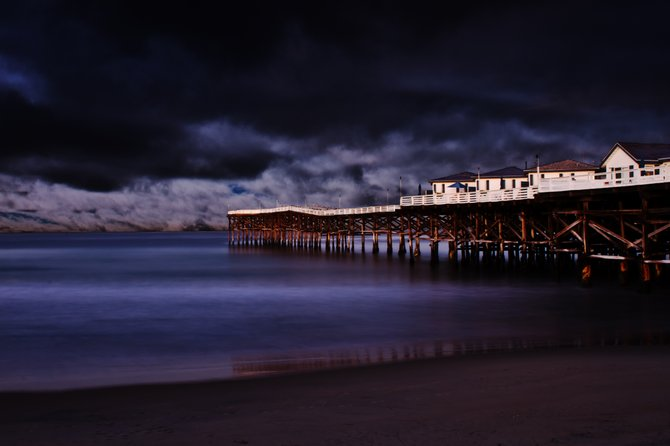 Pacific Beach Pier right at sunrise.