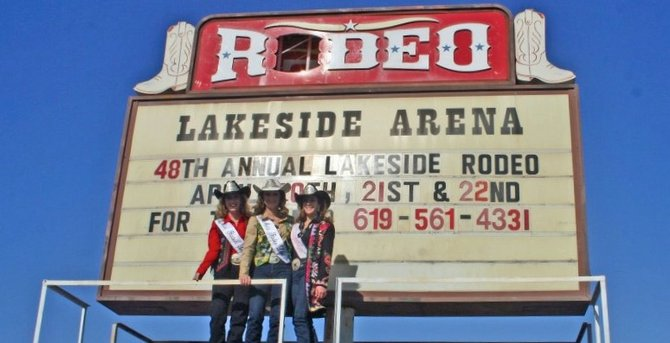 For over 35 years, the old rodeo sign was a Lakeside landmark.