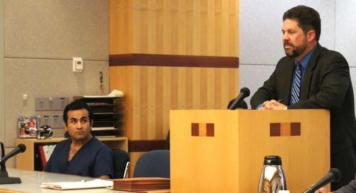Lopez Jr. with defense attorney Andrew Limberg.  Photo Weatherston.