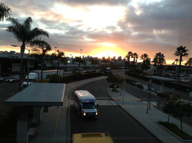 Beautiful San Diego Sunday morning at the San Diego International Airport. #619 #sunset #ilovemycity