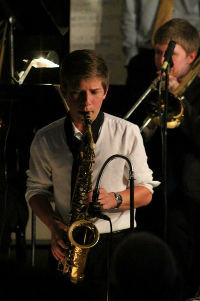 """""""The sax worked out because I could make the most sounds with one, so I went with that."""" --Kyle Myers"""