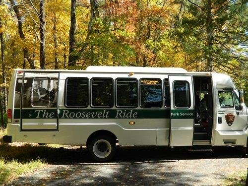 The National Park Service operates a free shuttle to historic FDR sites in Hyde Park.