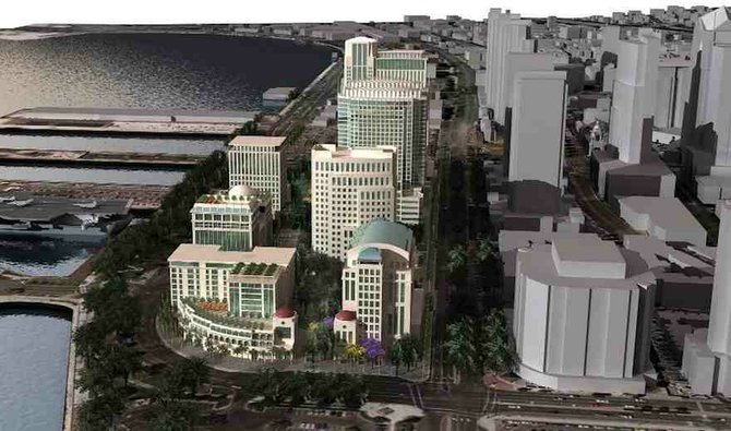 Rendering of San Diego U-T publisher Douglas Manchester's controversial development plan