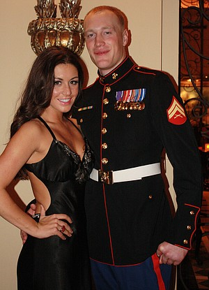 Corporal Cory Winter and Laura Crump