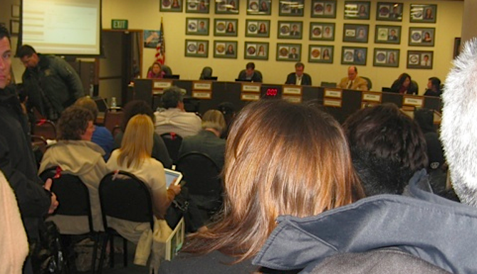Standing room only at the January 28 board meeting
