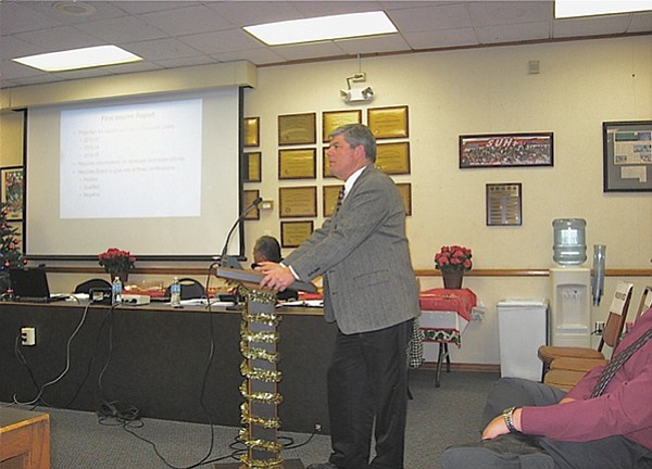At Sweetwater's December board meeting, member Rick Knott presented a troubling financial picture of the school district.