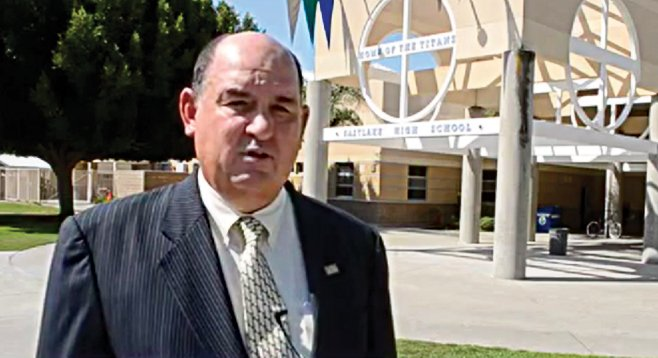 Superintendent Ed Brand received a no-confidence vote from a school-bond board.