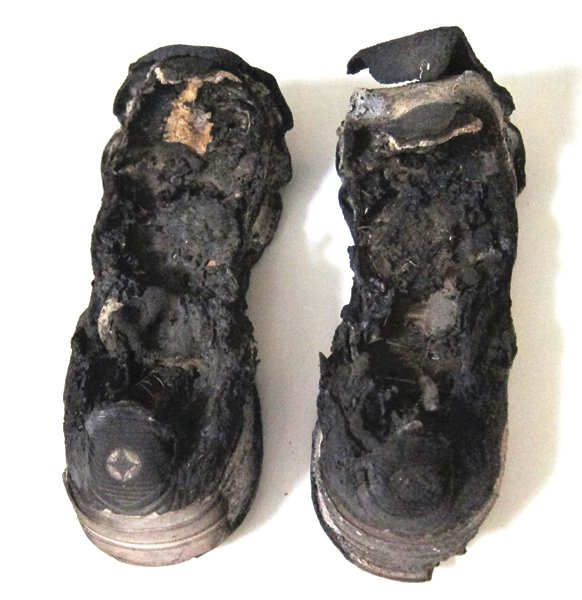 Burned Tennis Shoes, Cedar Fire.