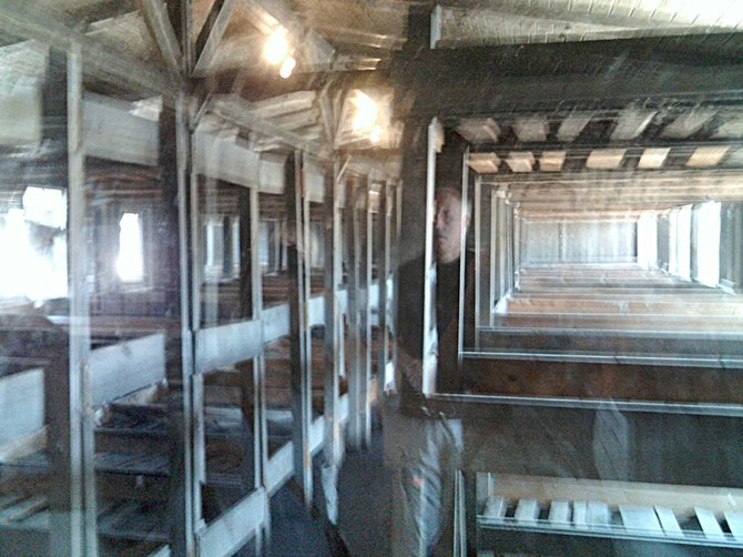 Picture of the barracks in Sachsenhausen Concentration Camp.