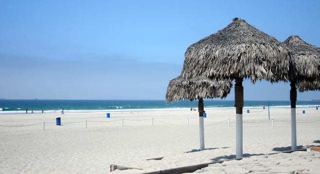 Chill out under the palapas just 40 minutes south of San Diego. (from Rosarito beach just up the road)
