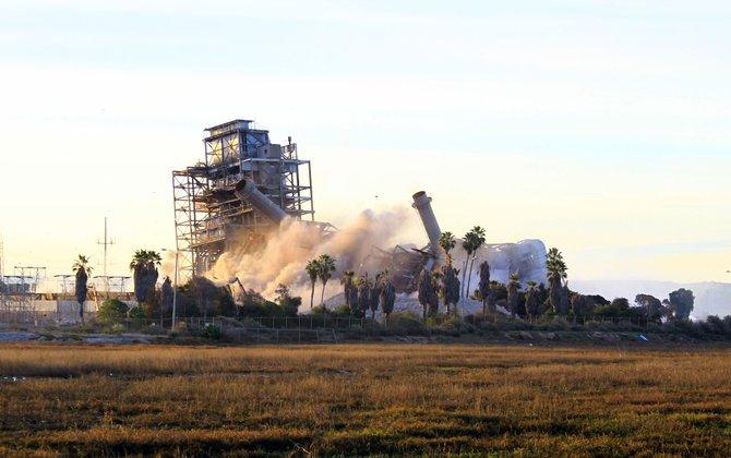 Chula Vista power plant implosion.