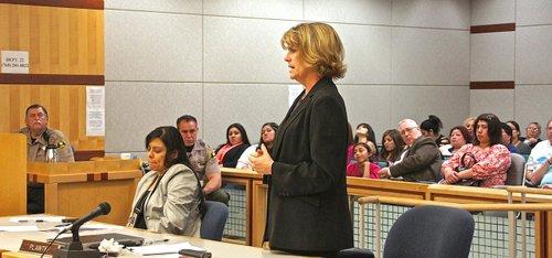 Prosecutor Jodi Breton asked for the maximum sentence.  Photo Weatherston.