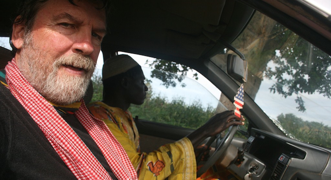 Going for a joyride with the young king of a tiny West African tribe, the Gan.