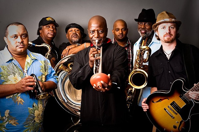 Fat Monday finds the Dirty Dozen Brass Band bringing some pre-Gras bap to Belly Up.