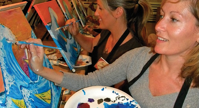 painting and wine classes in san diego county san diego
