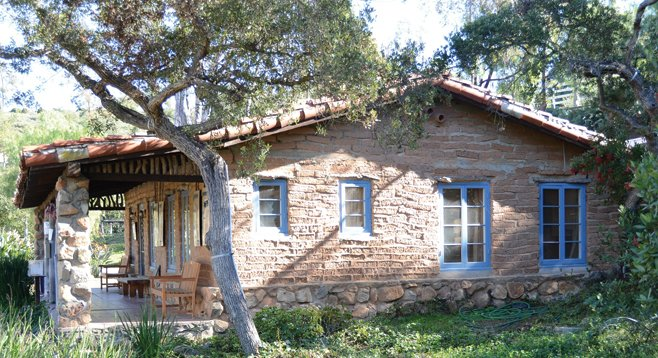 A quaint caretaker's cottage and roaming peacocks are among the sights to be seen as one strolls the four miles of trails on and around the Carrillo ranch.