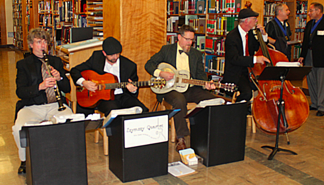 Zzymzzy Quartet played at the library'