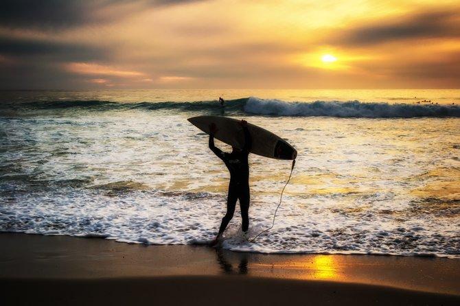 Sunset Surf at Windansea Beach in La Jolla, Ca by Joshua Kelsey
