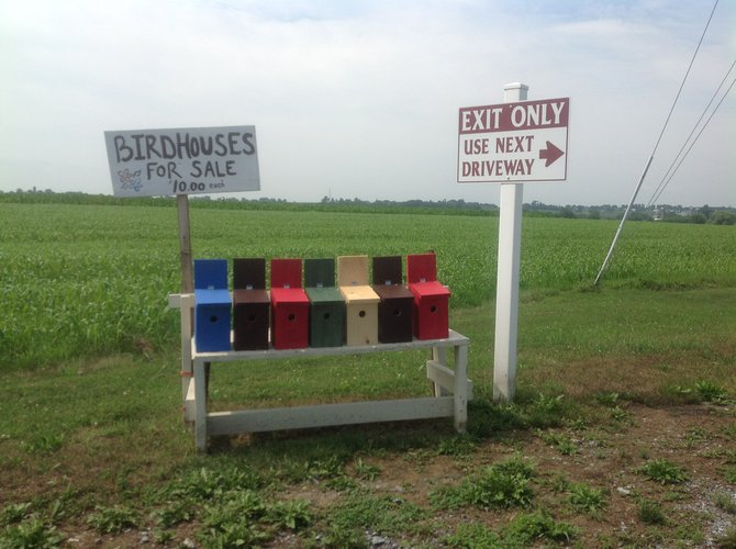 Birdhouses for sale in Amish Country, Lancaster County, PA
