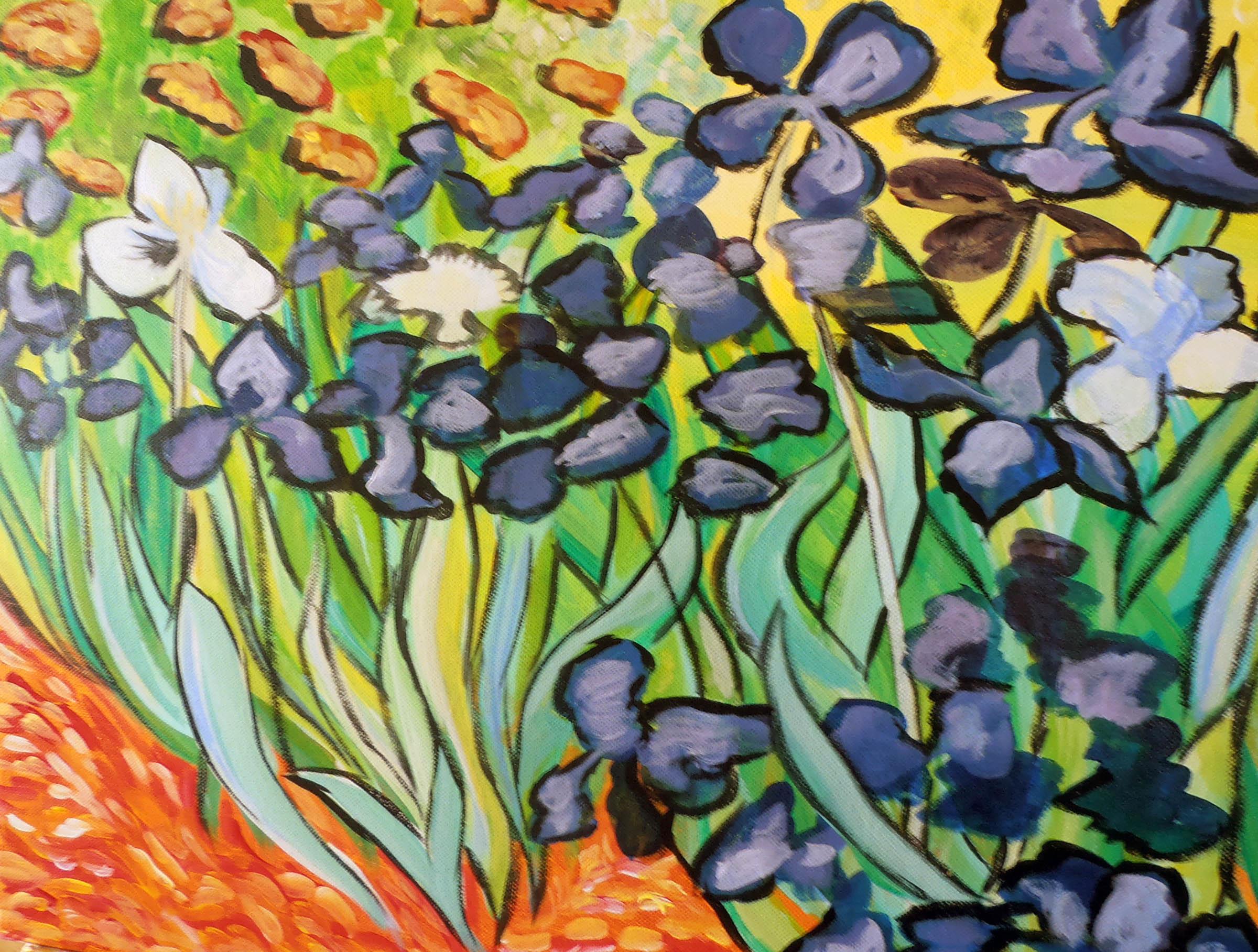 Van Gogh Style Irises