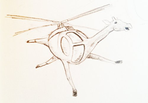 A base sketch of the logo designed for Girafficopter Pale Ale