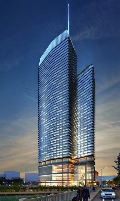 Rendering of Manchester Financial Group's planned hotel in downtown Austin, near the Convention Center.