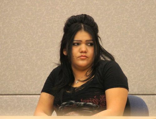 Corina Lani Morales in court.  Photo Weatherston.