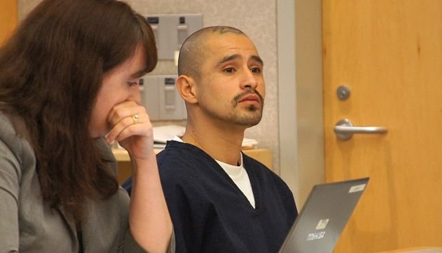 Jose Antonio Borja pleads not guilty.  Photo Weatherston.
