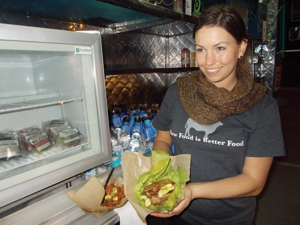 Co-owner June reckons she runs the only paleolithic food truck on the west coast.