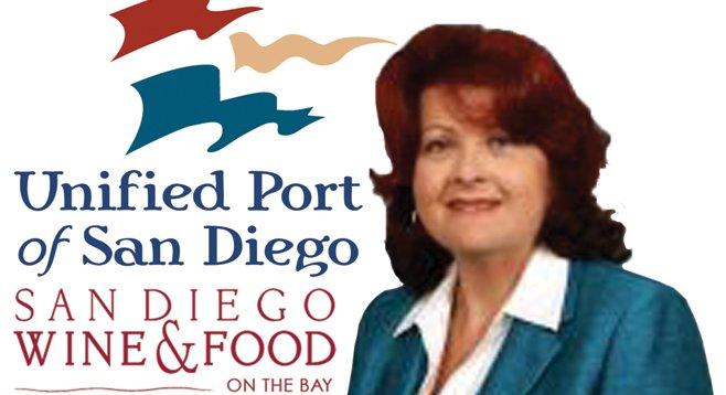 Yummy perk — former port board member Lee Burdick enjoyed a $150 chow down at a food festival.